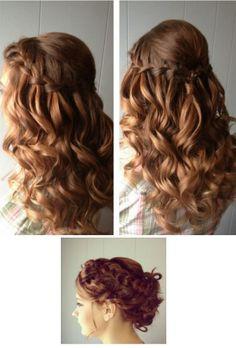 Curly braided hair