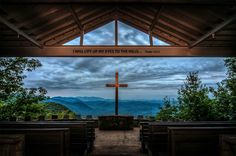 """Symmes Chapel Pretty Place: a favorite wedding venue, is called """"Pretty Place"""" for the magnificent view it commands from its lofty perch on Standingstone.  Contact me soon to start planning your special event!   info@myweddingdirector.com"""