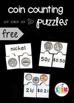 Awesome money game for kids! Match the front and back coins with kindergarteners and count up mixed coins with first grade or second grade kids!