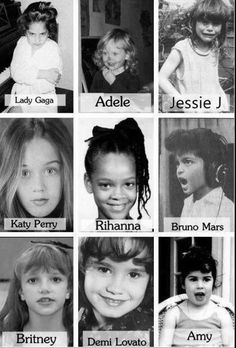 Celebrity's when they were young