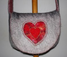Perfect valentine wet felted bag