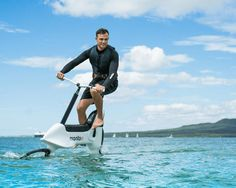 Hydrofoil Water Bicycle brings the cycling experience to the water plane. With its modular and intuitive design, you will have a whole lot of fun learning to ride a bicy Swimming Pool Accessories, Boat Accessories, Cool Swimming Pools, Best Swimming, Cool Gadgets For Men, Amazing Gadgets, Wave Boat, Velo Design, Velo Cargo