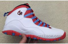 "4026246d7cef Discover the 2016 Air Jordan 10 ""Chicago Flag"" White Light Crimosn-University  Blue-Black Christmas Deals group at Pumarihanna."