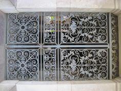 Ornate door at Hampton Court, England