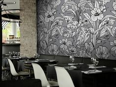 Muraspec offers an exclusive collection of designer wallcoverings & vinyl wall coverings for your home or commercial spaces. Vinyl Wall Covering, Retail Space, Modern Design, Curtains, Floral, Pattern, Exclusive Collection, Darkness, Bespoke