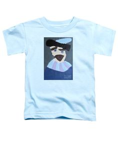 Patrick Francis Light Blue Designer Toddler T-Shirt featuring the painting Young Rembrandt In A Plumed Hat 2014 - After Rembrandt by Patrick Francis