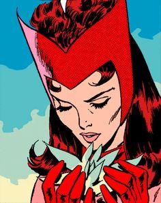 Wanda Marvel, Marvel E Dc, Marvel Comics Art, Marvel Women, Comic Book Characters, Marvel Characters, Marvel Movies, Slade Teen Titans, Scarlet Witch Comic