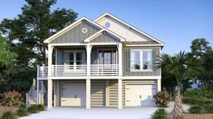 Firefly Cottage Beach House Floor Plans, Coastal House Plans, Coastal Cottage, Coastal Homes, Stilt House Plans, House On Stilts, Elevated House Plans, Small Beach Houses, Garage Apartment Plans