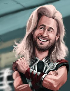 Chris Hemsworth as Thor by DevonneAmos.deviantart.com