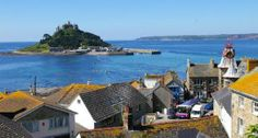 Gateway to St Michael's Mount, Marazion has a superb beach + stunning views toward the Lizard Peninsula and Land's End. Lands End Cornwall, West Cornwall, Devon And Cornwall, Cornwall England, Places To Travel, Places To Visit, St Michael's Mount, Tourist Board, Vacation Destinations