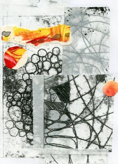 Original fine art collage with hand pulled by lottieanderson, $35.00