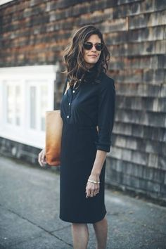 Fashion Inspiration   Black Oxford Shirt