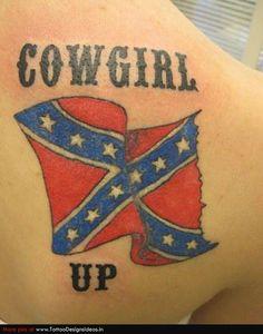 rebel flag cowgirl tattoo