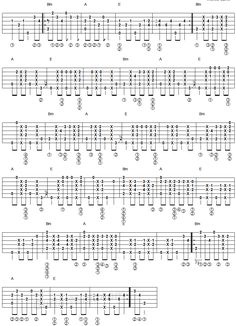 Wicked Game - fingerstyle guitar tablature 2