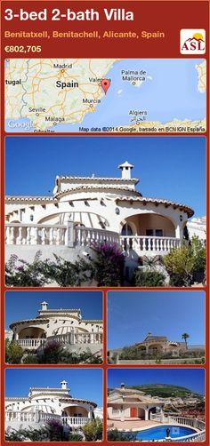 3-bed 2-bath Villa in Benitatxell, Benitachell, Alicante, Spain ►€802,705 #PropertyForSaleInSpain
