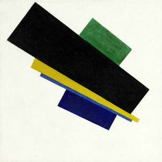 Kazimir Malevich - Suprematism, 18th Construction - 1915   Photo: Sotheby's