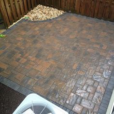 Cambridge Pavingstones come in all different sizes, shapes and colors.  This patio was installed by Omega Landscape.
