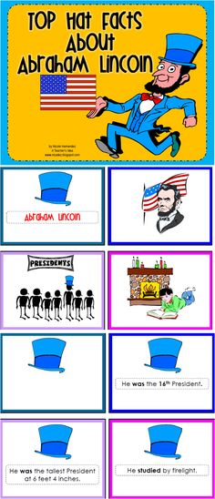 A Teacher's Idea: My SOCIAL STUDIES Resources: This is a wonderful reading and matching activity to help your kids remember the facts surrounding the significance of Abraham Lincoln. The facts are there in sentences and pictures that they will read and match them up. There are also two coloring sheets and a writing sheet to get them on the right track!