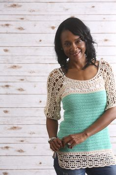 Sea Isle Tunic - I Like Crochet This beautiful tunic is light and breezy, perfect for spring and summer.