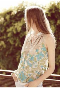Anthropologie Catalog; love that the image is more about the clothing/styling than about the model herself.