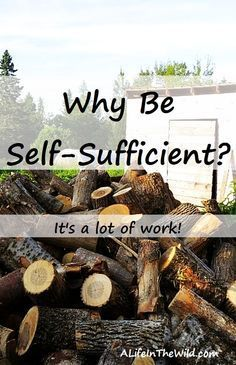 Self-sufficiency is a lot of work but it's worth it. I can do things myself or get a job, earn money, and pay someone else to do these things for me. #homesteading #homestead #survival via /RobinFollette/