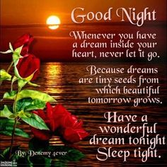 Wishing you a wonderful evening and a peaceful night's rest. Know that you are blessed and that tomorrow will be a wonderful day. Sweet dreams my friends! Many blessings, Cherokee Billie  www.facebook.com/CherokeeBillieSpiritualAdvisor
