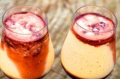 Papaya Cream with cassis liquor!