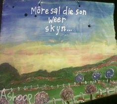 die son sal weer skyn.... Afrikaans, No Time For Me, Sons, Sheet Music, Movies, Movie Posters, Films, Film Poster, My Son