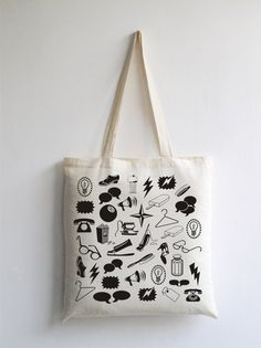 Tote bag canvas eco friendly cotton tote bag by ArtisEverything