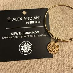 Alex and Ani New Beginnings bangle Gold finish. Great condition. Alex & Ani Jewelry Bracelets