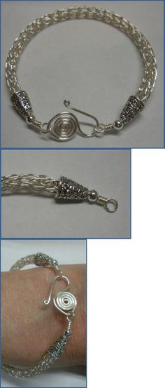 How to Make a Viking Knit Bracelet Tutorial by Judy Larson.  Includes instructions for making the clasp, coiled wire end caps and draw plate.  For more free jewelry making tutorials, check The Beading Gem's Journal www.beadinggem.com
