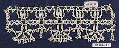 Date:      16th century  Culture:      Italian (Genoa)  Medium:      Bobbin lace  Dimensions:      L. 6 1/2 x W. 2 1/4 inches (16.5 x 5.7cm)