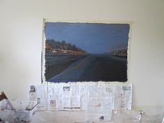 Canal 1, 150x100cm, acrylique sur toile.