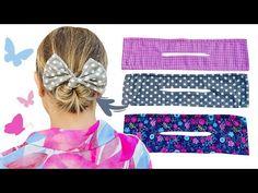 Acessório de cabelo / Tiara mágica para fazer arco - YouTube Diy Hair Accessories, Sewing Accessories, Baby Bows, Baby Headbands, Diy Hair Bun, Sewing Hacks, Sewing Projects, Hair Bun Maker, Mode Turban