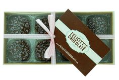 Belgian chocolate, handmade, individual novelty shapes from Berry Scrumptions & Felicity's Chocolate.