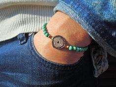 Turkish Evil Eye Bracelet , Gold Studded Rhinestone Evil Eye Bracelet , Protection Bracelet , Good Luck bracelet , turquoise jewelry by ebrukjewelry on Etsy