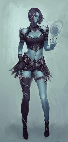 ArtStation - blue witch, Soufiane Idrassi