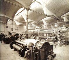 El Vapor Aymerich Amat i Jover, Textile Factory. Built between 1907  and 1908, Architect Lluís Muncunill. Vintage Catalonia Textile Industry Archive Terrassa County, Catalonia.