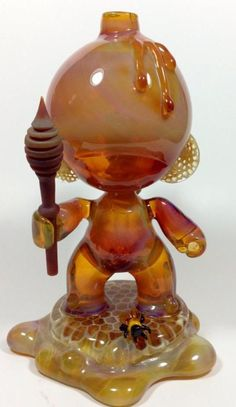 Honey Munny - Joe Peters x Coyle borosilicate glass pipe heady