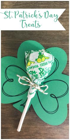 St. Patrick's Day Treats #StPatricksDay #ClassTreat #PartyFavor #DumDumsLollipops