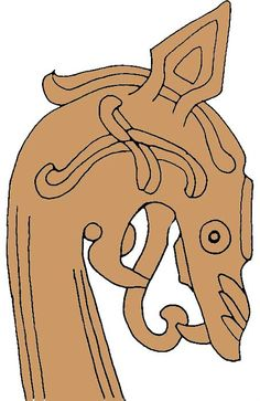 Drakhuvuden | Fotevikens Museum Viking Tent, Viking Camp, Viking Dress, Viking Dragon, Viking Shield, Wood Carving Designs, Wood Carving Art, Vikings, Couple Poses Drawing