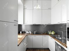 Modern White Kitchen Wood Floor w0KImhcoj