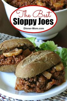 The best Sloppy Joes have a touch of red wine vinegar in the sauce and are served on a baguette! This easy weeknight dinner is so much better than what you had as a kid! #sloppyjoes #easydinners