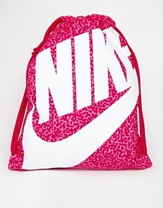 447cbf452be31 Nike Heritage Gymsack in Pink at asos.com
