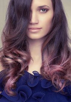 Pretty Brunette and pink ombré.