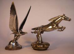 Mascottes Automobiles / Bouchon de radiateur - mascottes animalières, aigle et cheval de Brau