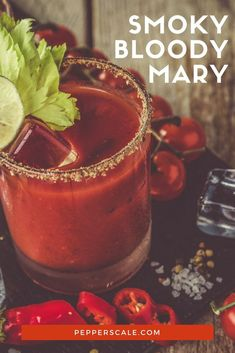 Like all things smoked? Then you'll love a smoky Bloody Mary. This recipe is the brunch equivalent of taking in the smoky aromas of outdoor grilling days. Spring Cocktails, Refreshing Cocktails, Winter Drinks, Summer Drinks, Chipotle Recipes, Spicy Drinks, Bloody Mary Recipes, Mixed Drinks Alcohol, Outdoor Grilling