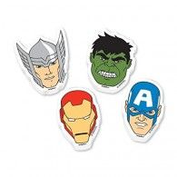 Erase any damage with these Avengers Erasers! These shaped erasers star illustrated faces of Thor and the crew. Hand out as party favors or prizes for your Avengers superhero party! Package includes 12 erasers, 3 of each Thor, Hulk, Iron Man and Captain A Hulk, Thor, Captain America, Iron Man, Avengers Tattoo, Wholesale Party Supplies, Party Bag Fillers, Baby Halloween Costumes, Superhero Party