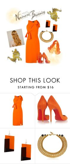 """""""Beauty!🌹"""" by queensilvi ❤ liked on Polyvore featuring Versace, Christian Louboutin, MANGO and Kikijewels"""