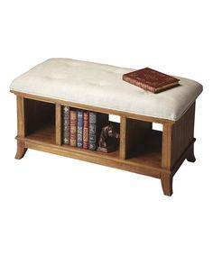 Look at this Tufted Storage Bench on #zulily today!